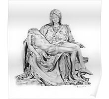 Mary and Jesus Pieta by Michelangelo Poster