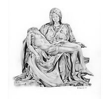Mary and Jesus Pieta by Michelangelo Photographic Print