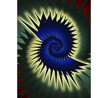 Blue Spiral Photographic Print