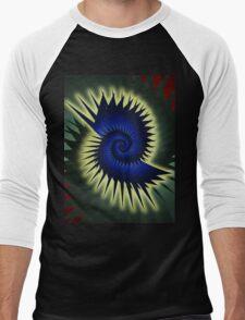 Blue Spiral Men's Baseball ¾ T-Shirt