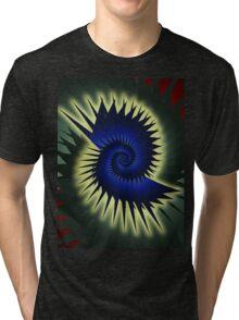 Blue Spiral Tri-blend T-Shirt