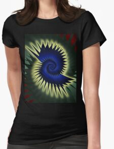 Blue Spiral Womens Fitted T-Shirt