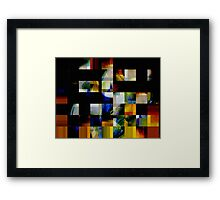 fragmented heart beat..... to be precise shattered Framed Print