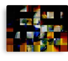 fragmented heart beat..... to be precise shattered Canvas Print