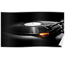 old style turntable with needle Poster