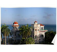 Valle's palace, bay of Jagua, Cuba Poster