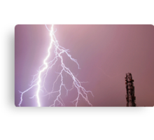 Thunderbolts in the sky Canvas Print