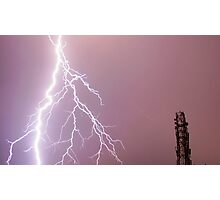 Thunderbolts in the sky Photographic Print