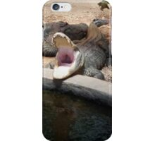 Gator opening wide iPhone Case/Skin