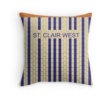 ST. CLAIR WEST Subway Station Throw Pillow