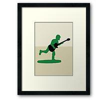 Guitar Soldier Framed Print