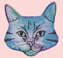 Watercolor Kitty Kids Tee