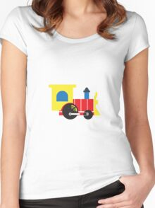 Retro Toy Train Women's Fitted Scoop T-Shirt