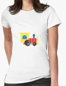 Retro Toy Train Womens Fitted T-Shirt