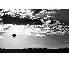 Hot Air Balloon Sunrise Photographic Print