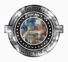 Distressed Geometric Las Vegas Cityscape  One Piece - Short Sleeve