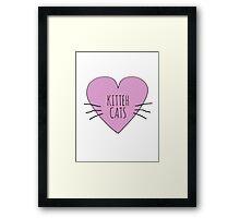 I LOVE KITTEH CATS Framed Print