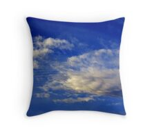 Highly structured cloud in a sky blue king Throw Pillow