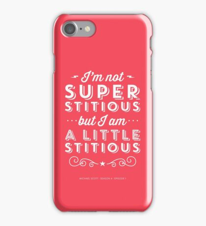 The Office Dunder Mifflin Michael Scott Quote - Superstitious iPhone Case/Skin