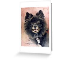 """""""Belle"""" the Pomeranian Greeting Card"""