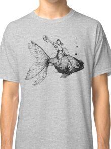 goldfish-riding cowgirl Classic T-Shirt