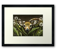 Peek-a-boo! little fawn by Tanya Bond Framed Print