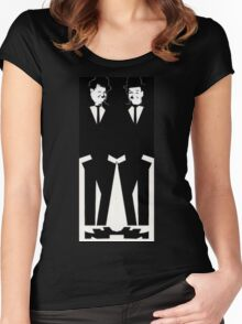 Two Tone Laurel & Hardy Women's Fitted Scoop T-Shirt