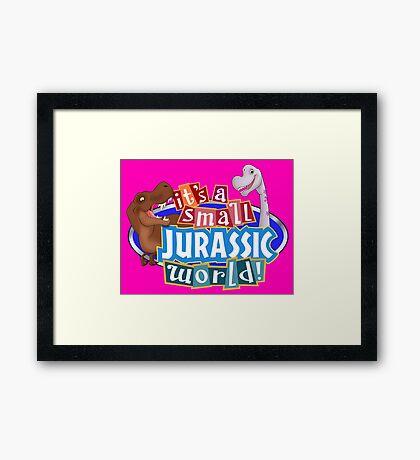 It's a Small Jurassic World (Logo w dinos) Framed Print