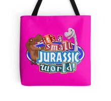 It's a Small Jurassic World (Logo w dinos) Tote Bag