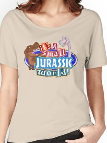 It's a Small Jurassic World (Logo w dinos) Women's Relaxed Fit T-Shirt