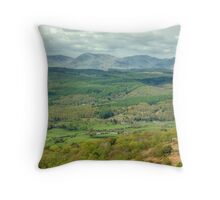 Rusland Valley and The Coniston Fells Throw Pillow