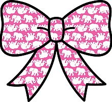 Lilly Pulitzer Inspired Bow Pink Tusk in Sun by mlr28blu