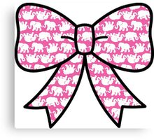 Lilly Pulitzer Inspired Bow Pink Tusk in Sun Canvas Print