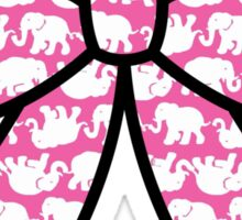 Lilly Pulitzer Inspired Bow Pink Tusk in Sun Sticker