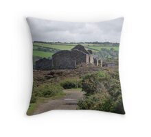 Levant Mine, Cornwall Throw Pillow