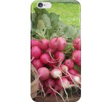Farmer's Market Radishes iPhone Case/Skin