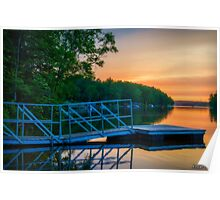 Sunset at Kearney Lake Poster