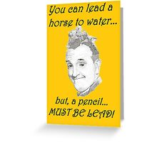 Stan Laurel Greeting Card