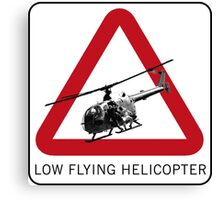 SPECTRE - Low Flying Helicopter Canvas Print