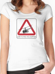 SPECTRE - Low Flying Helicopter Women's Fitted Scoop T-Shirt
