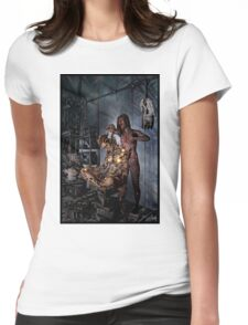 Cyberpunk Painting 058 Womens Fitted T-Shirt