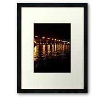 Bridge Lights at Night Framed Print