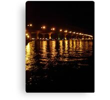 Bridge Lights at Night Canvas Print