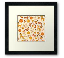 Fox Pattern Framed Print