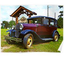 """An Antique Car Needing A Wash"" Poster"