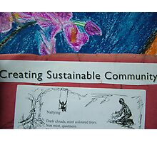 Creating Sustainable Community Photographic Print