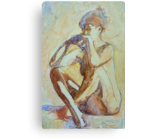Nude : watercolor on yupo paper Canvas Print