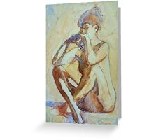 Nude : watercolor on yupo paper Greeting Card
