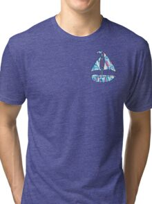 Lilly Pulitzer Inspired Sailboat - Red Right Return Tri-blend T-Shirt