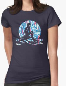 Lilly Pulitzer Inspired Mermaid - Red Right Return Womens Fitted T-Shirt